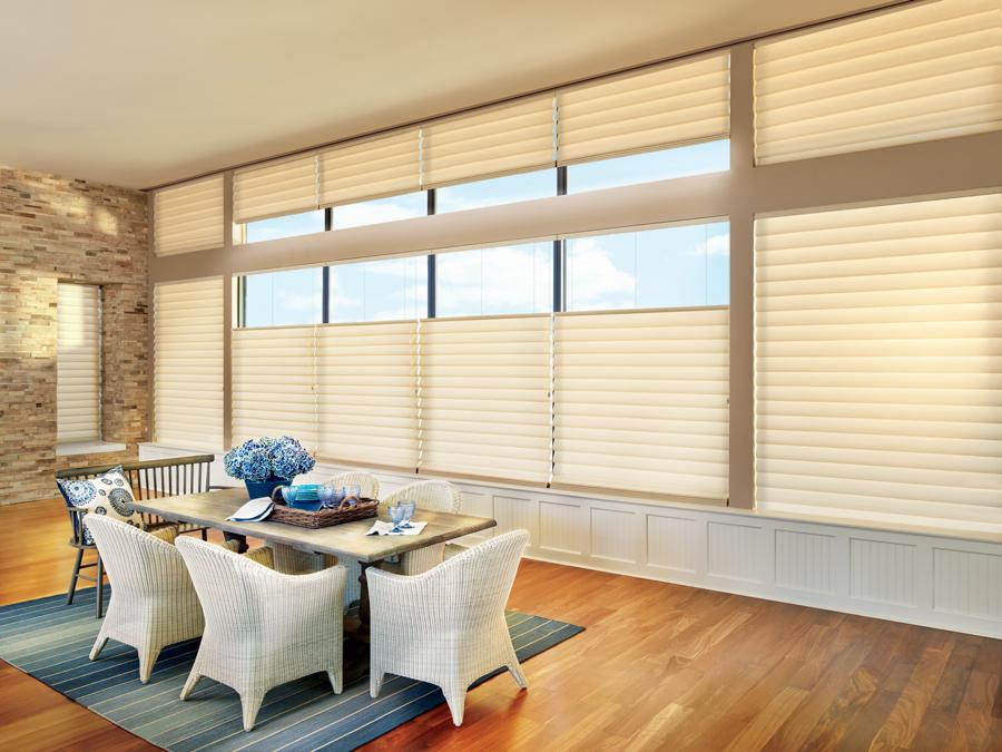 custom roman shades thermal window treatments Hunter Douglas Maple Grove 55369