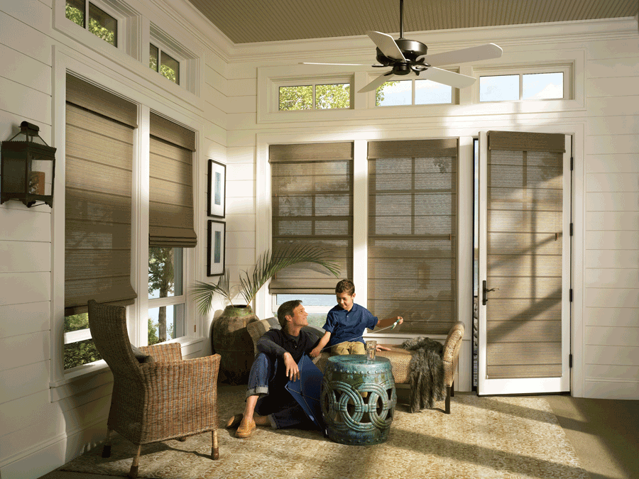 decorate your home with custom roman shades in neutral colors Naples FL