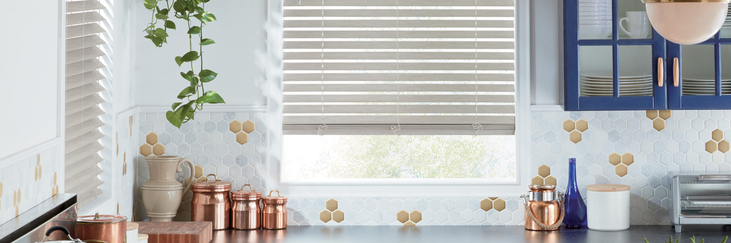 hunter douglas kitchen blinds faux wood blinds Fort Myers FL