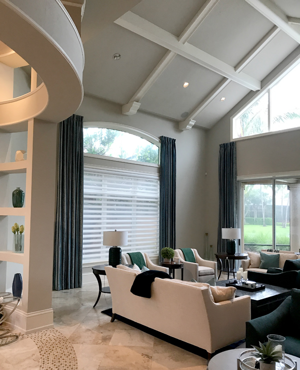 hunter douglas silhouette shades with drapery side panels Fort Myers FL
