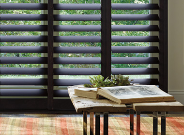 hunter douglas black heritance hardwood shutters 34108