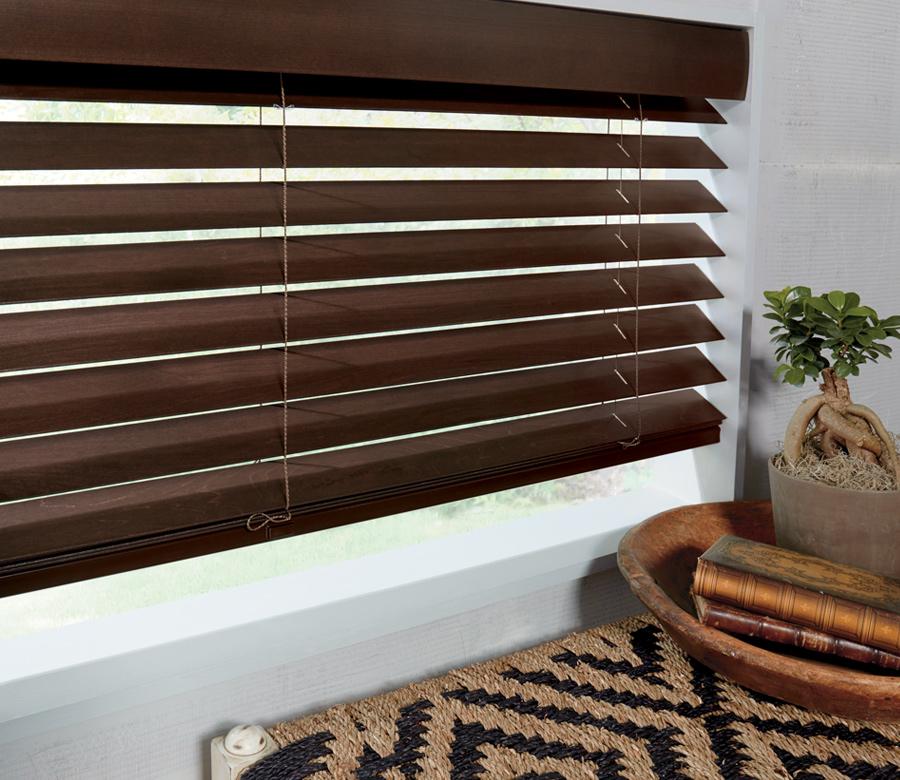 brown parkland wood blinds hunter douglas 34119