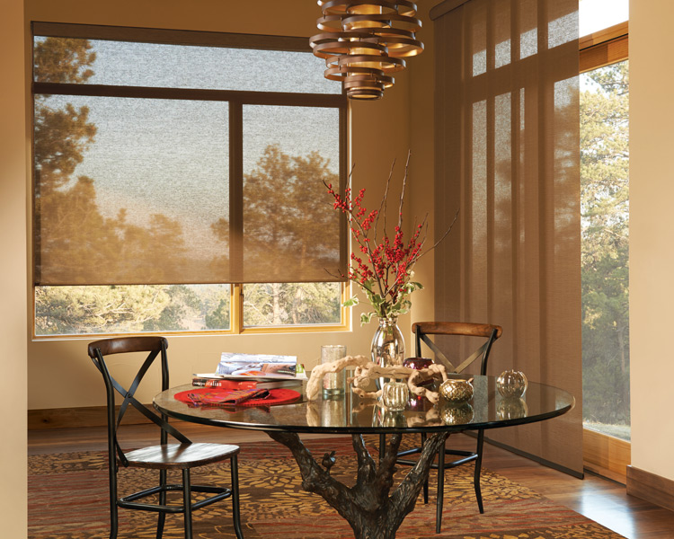 desinger roller shades hunter douglas motorized blinds Naples Fl