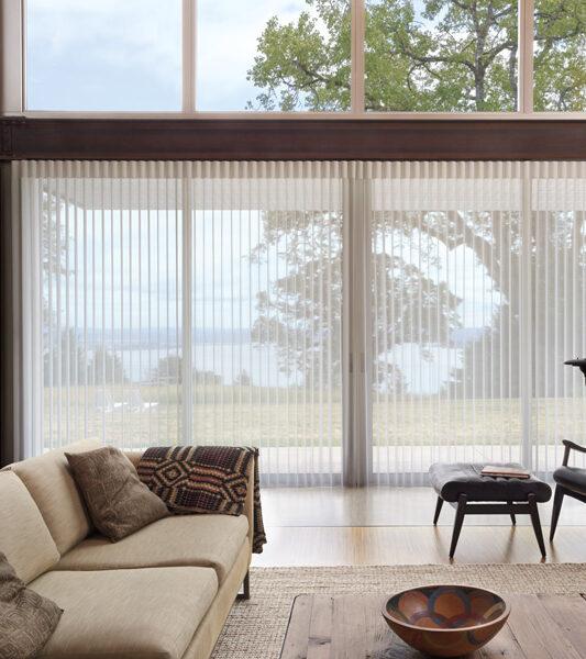 living room motorized vertical shades hunter douglas Fort Myers