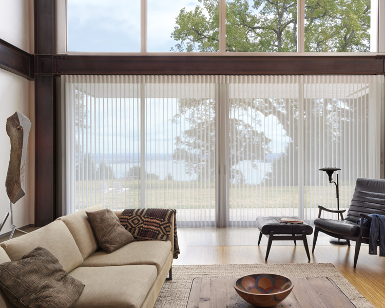 living room motorized vertical shades hunter douglas Fort Myers