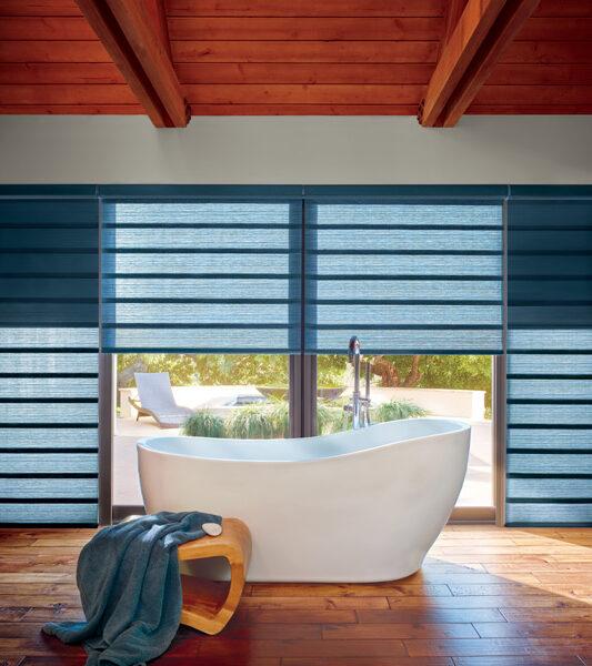 bathroom hunter douglas motorized roman shades Fort Myers