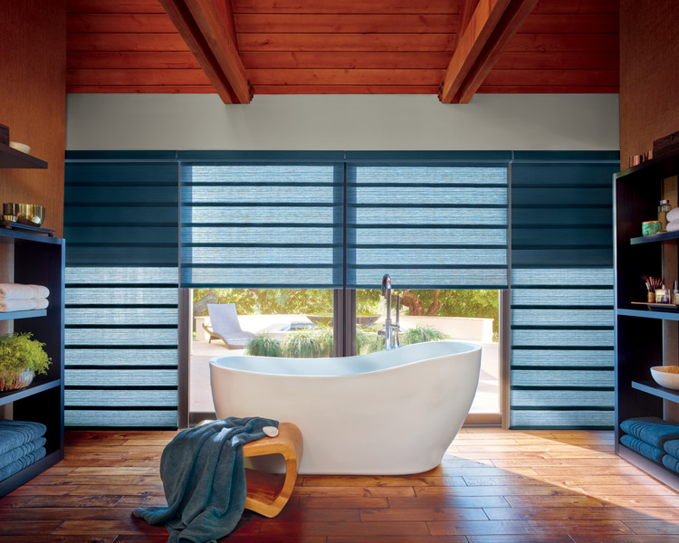 bathroom hunter douglas motorized roman shades Fort Myers