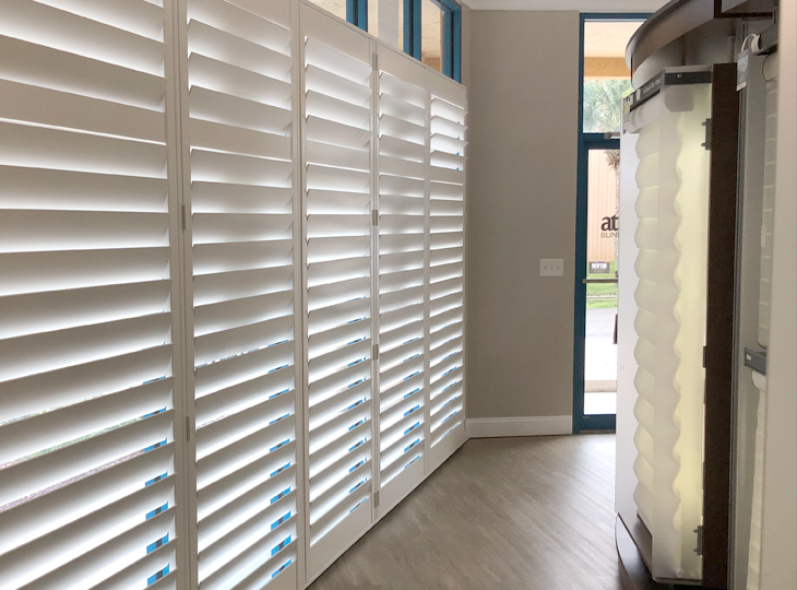 plantation shutter display at hunter douglas showrrom Fort Myers 33908