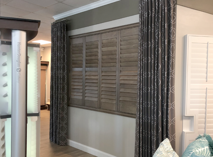 blinds and shades display at hunter douglas showroom hunter douglas blinds and shades at showroom Fort Myers 33908