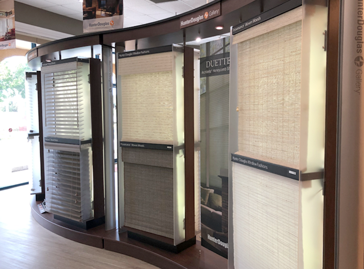 hunter douglas shades and blinds at Fort myers showroom