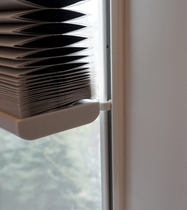 hunter douglas duette honeycomb shades with track glide on tilt turn window Fort Myers, FL