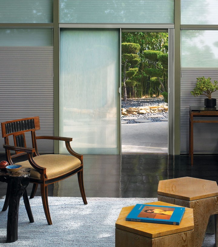 duette shades Hunter Douglas window treatments for sliding glass doors Fort Myers Fl