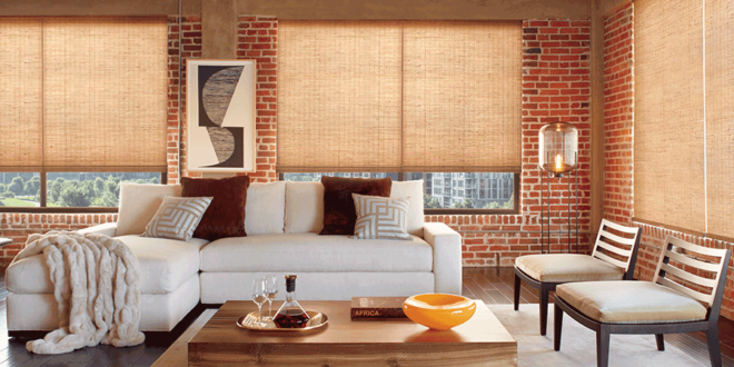 naturally modern woven wood blinds Hunter Douglas Fort Myers FL