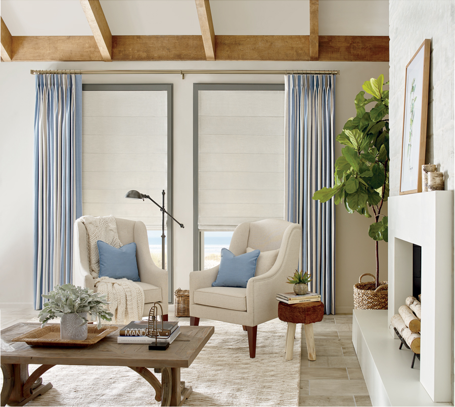 Layered Design Studio Window Treatments in Florida home.