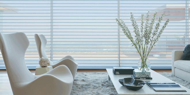 living room silhouette shades minimalism home design Hunter Douglas Fort Myers 33908