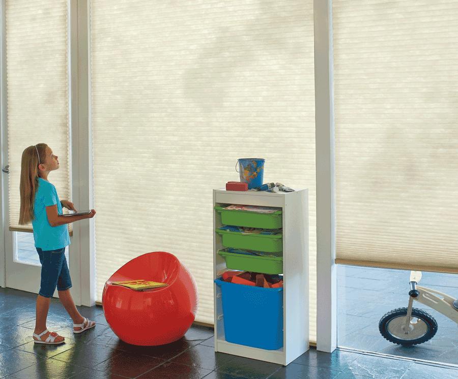 motorized blinds cordless for child safety Naples FL