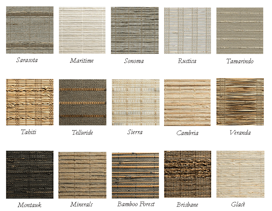 Woven wood shade fabric collections Hunter Douglas Naples FL