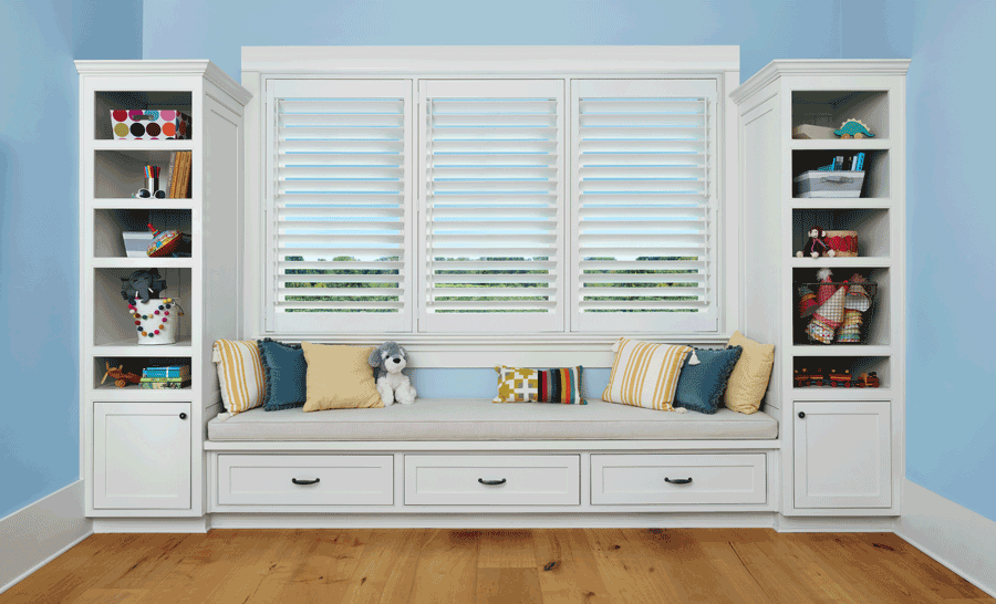 plantation shutters for child safe window treatments Fort Myers FL