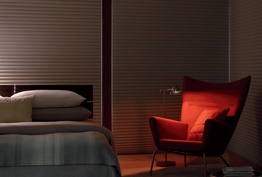 make the most of your home bedroom room darkening blackout motorized duette honeycomb shades summer ready home Hunter Douglas Fort Myers 33908