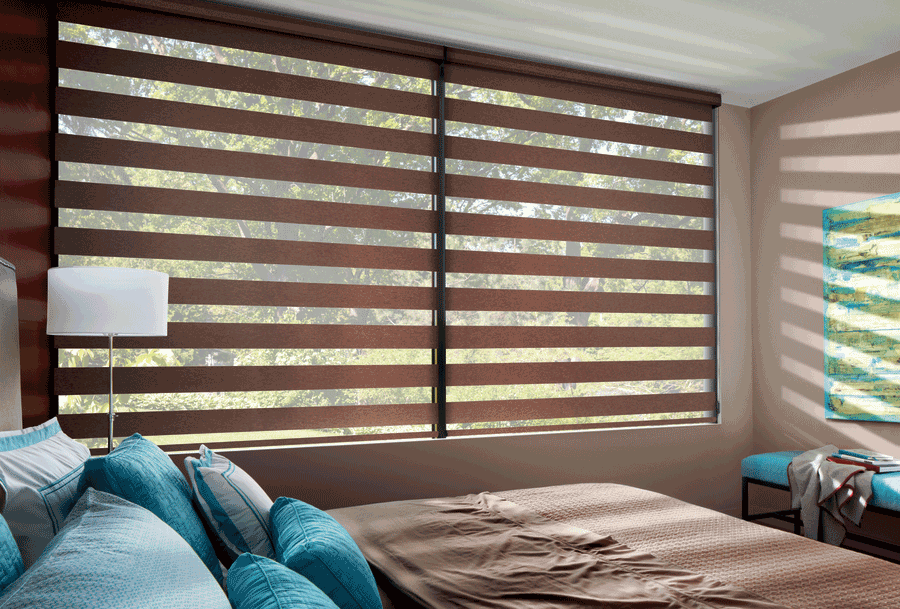 bedroom smart shades move from light filtering to blackout Naples 34119