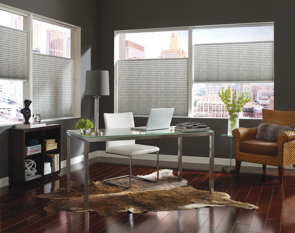 home office top down bottom up shades for privacy and light control Fort Myers 33908