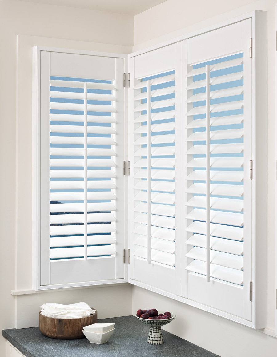 front tilt plantation shutters for customized fit Fort Myers 33908