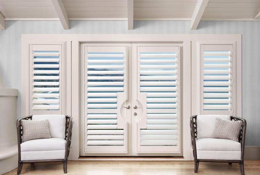 palm beach motorized shutters for french doors with hidden tilt Naples 34119