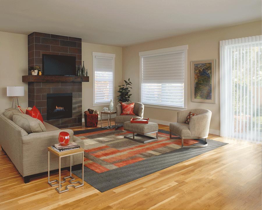 Duolite sheer window treatments offer room darkening light control Naples 34119