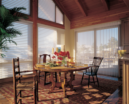 sheer shades in dining room offer view and comfortable natural light Naples 34119