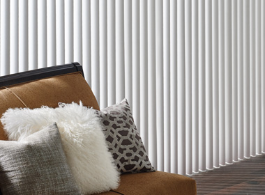 living room white cadence soft vertical blinds