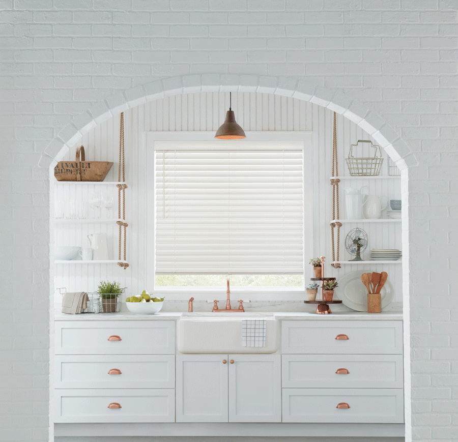 white kitchen with copper hardware fort myers FL