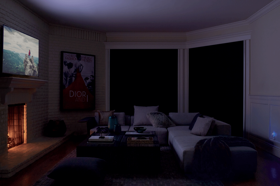 Blackout shades are perfect for any room where light is an issue.
