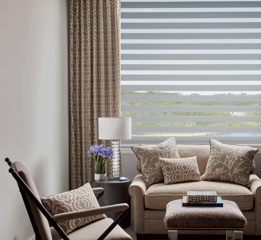 draperies added to base window coverings when you layer window treatments Fort Myers FL