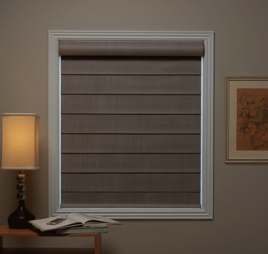 room darkening to blackout window shades with a glow outlined