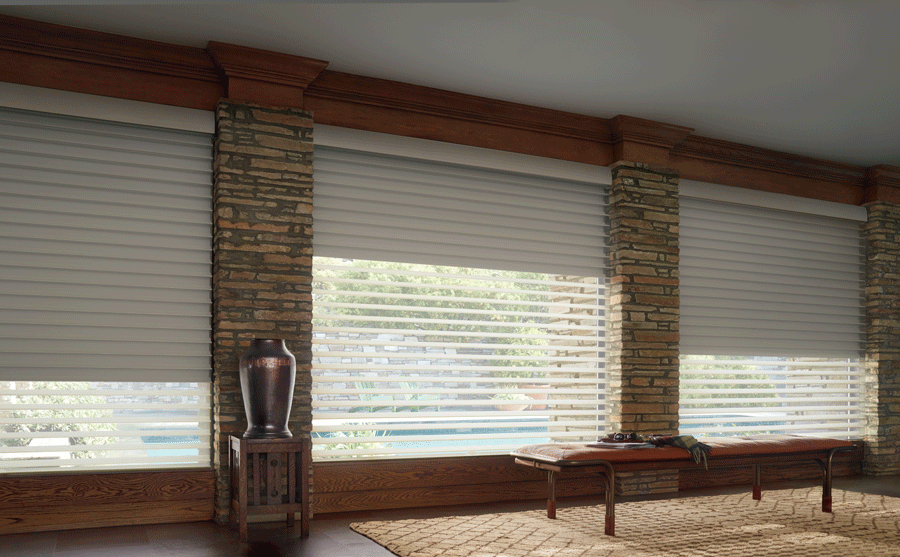 Dual shades allow for both room darkening and sunlight when needed.