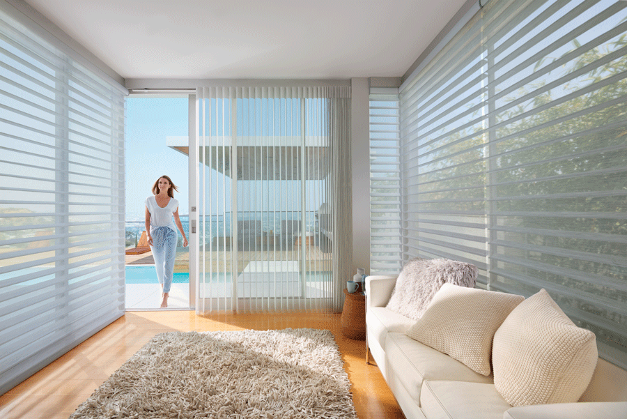 Silhouette shades help bring the outdoors in.