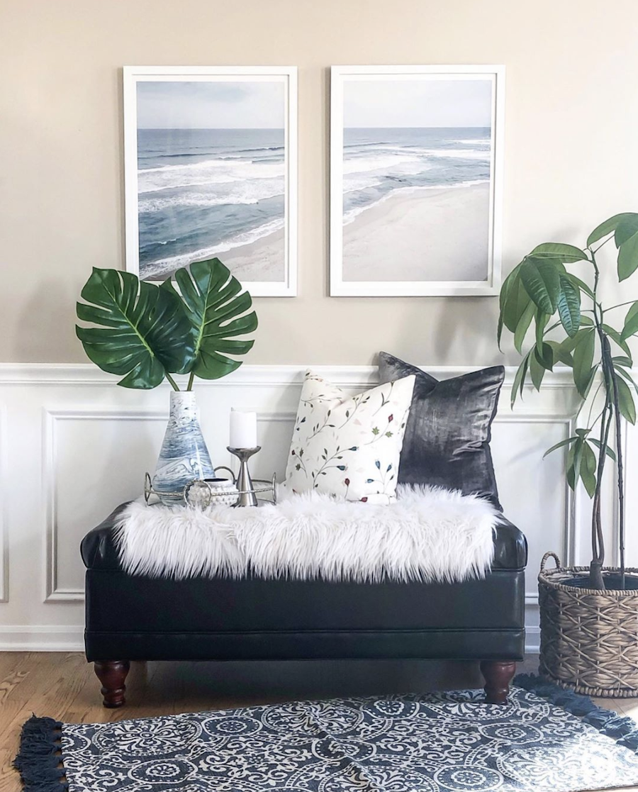 nature to inspire tropical art and plants in home decor
