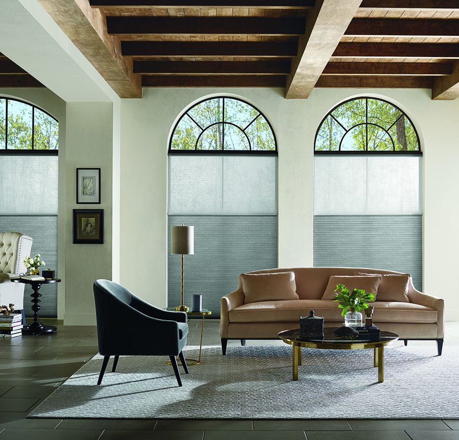 applause honeycomb shades on arched windows Fort Myers, FL