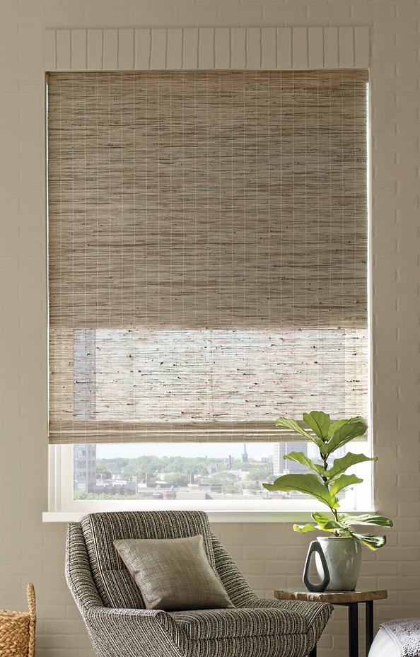Provenance® Woven Woods in a living room.