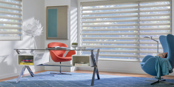 The Pirouette window shades.
