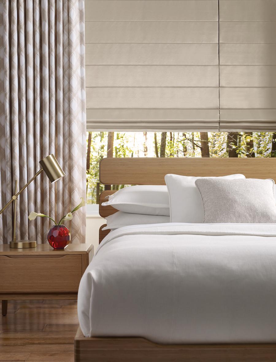Design Studio™ Roman Shades in a bedroom