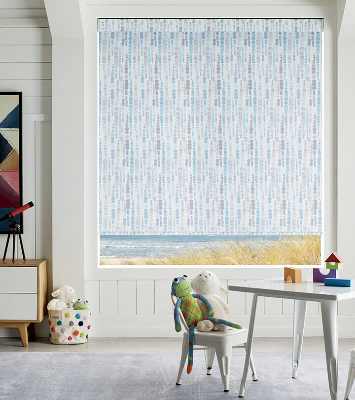 cordless roller shades in Fort Myers FL playroom