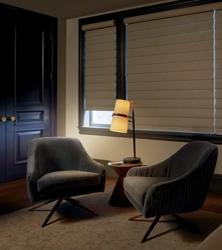 room darkened with pirouette shades in den Fort Myers FL