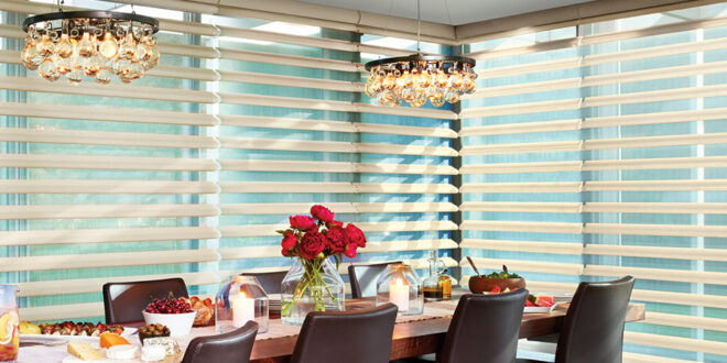 updated dining room with blinds Naples, FL