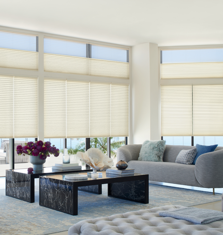 energy efficient dual shades in Fort Myers FL living room
