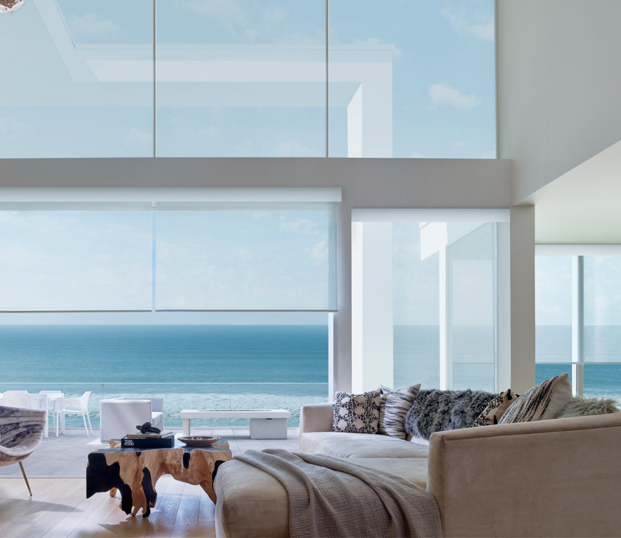 Ocean View two story with screen shades in Naples FL