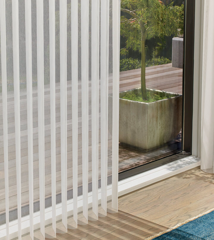 luminette sheer shades window treatments for sliding glass doors in Fort Myers FL
