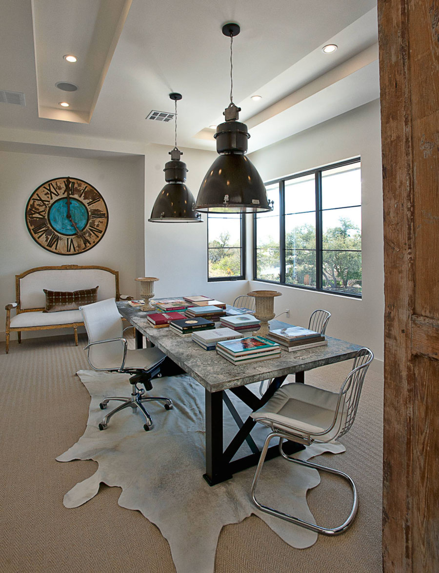 Design features in dining room of Naples Fl home