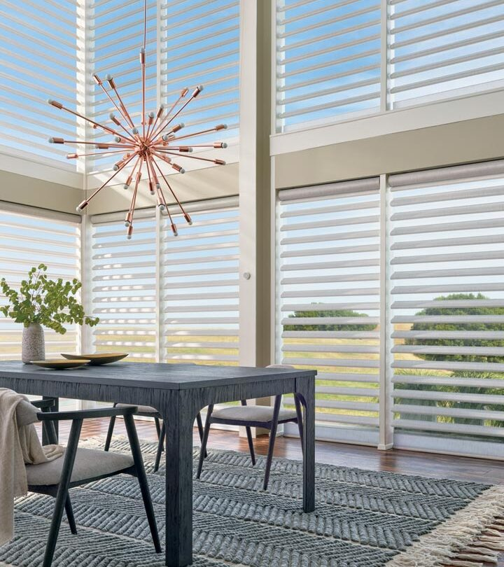 hard to reach windows covered with window shades for large windows in Fort Myers FL