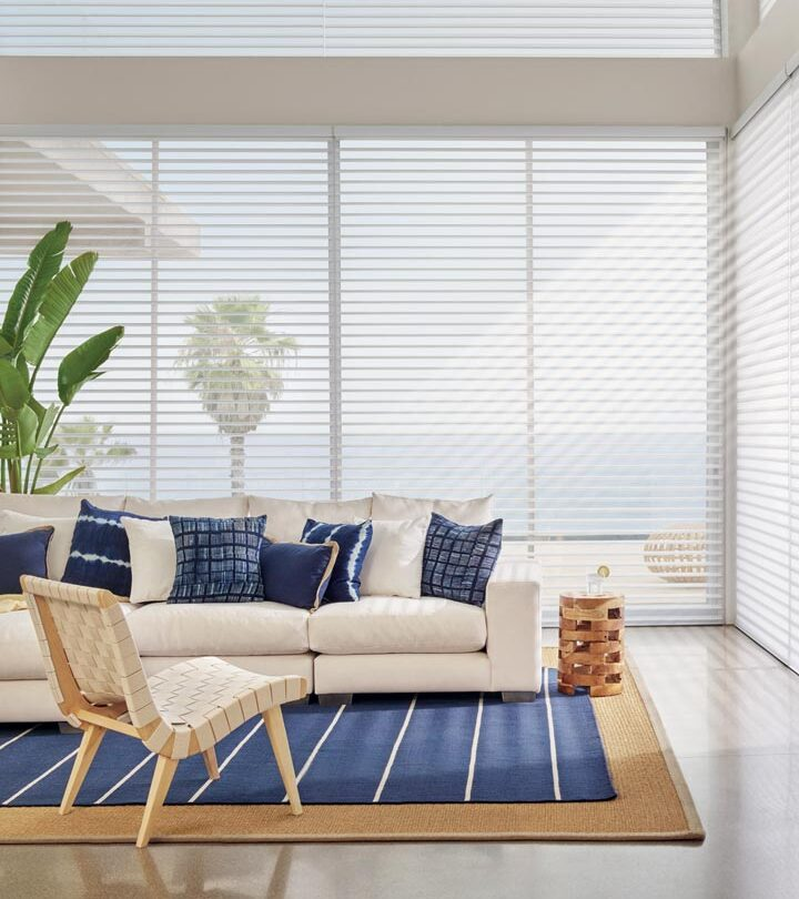 window treatments for large windows silhouette shades in Naples FL